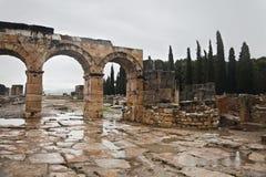 Ancient ruin in Hierapolis, Turkey Royalty Free Stock Image