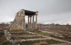 Ancient ruin in Hierapolis, Turkey Royalty Free Stock Photography