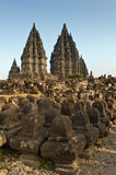 Ancient ruin of prambanan Royalty Free Stock Photography