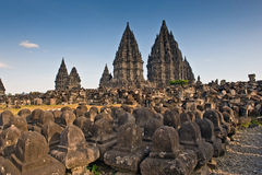 Ancient ruin of prambanan Stock Photography