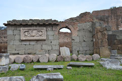 Ancient ruin in Roman Forum Royalty Free Stock Images