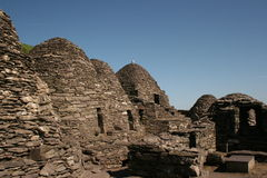 Ancient Ruin of Skellig Rock in Ireland Stock Photo