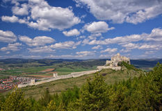 Ancient ruin of Spis Castle, Slovakia at summer sunny day. Ancient ruin of Spis Castle - Spissky hrad, National Cultural Monument (UNESCO), Slovakia at summer stock photo