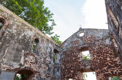 the ancient ruin of St. Paul's church at Malacca Royalty Free Stock Image