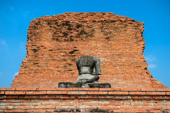 Ancient Ruin Stone Buddha Statue Royalty Free Stock Photos