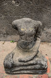 Ancient Ruin Stone Buddha Statue Royalty Free Stock Images