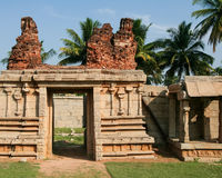 Ancient ruin stone building in hampi Royalty Free Stock Photography
