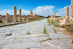 Ancient ruin at Umm Qais in Jordan Royalty Free Stock Images