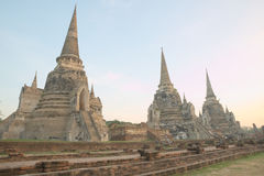 Ancient ruin of Wat Phra Sri Sanphet Royalty Free Stock Photography