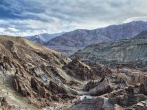 Ancient ruined Buddhist monastery. Himalayas, North India Royalty Free Stock Image