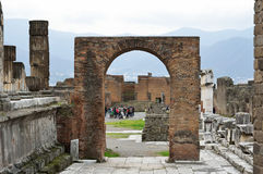 Ancient ruined city Pompeii Stock Images