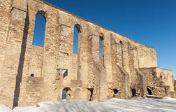 Ancient ruined St. Brigitta convent Royalty Free Stock Image