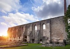Ancient ruined St. Brigitta convent  1436 year  in Pirita region, Tallinn, Estonia Stock Photo