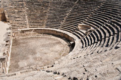 Ancient ruined theatre in Turkey Stock Image