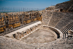 Ancient ruined theatre in Turkey Stock Photos