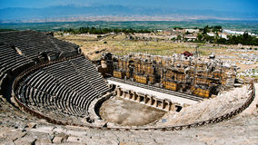 Ancient ruined theatre in Turkey Stock Photography