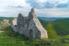 Ancient Ruined Wall. Left from a castle royalty free stock photography
