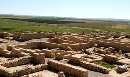 Ancient Ruins. The ancient ruins of biblical Beer Sheva in Shouthern Israel Stock Image