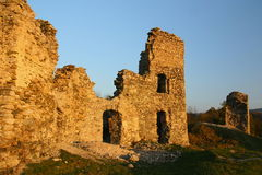 Ancient ruins. Castle ruins in Czech republic Stock Images