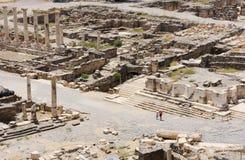 Ancient ruins. Ruins of the ancient Roman city Bet Shean, Israel Stock Images