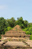 Ancient Ruins. Old Historical Ruin, Tourist Attraction at Wiang Kum Kam in Chiangmai Thailand Stock Photo