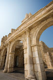 Ancient ruins. Reconstituted stone copy of architectural structures from the Roman period. Macao. China Stock Photo