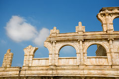 Ancient ruins. Reconstituted stone copy of architectural structures from the Roman period. Macao. China Royalty Free Stock Images
