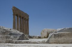 Ancient ruins. Baalbeck, Lebanon Stock Photo