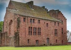 Ancient Ruins The Abbots House Arbroath Abbey Scotland Stock Photos