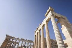 Ancient Ruins Of The Acropolis Stock Photos