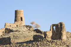 Ancient ruins at Al Mudayrib in Oman Royalty Free Stock Photos