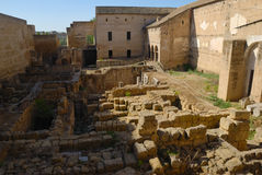 Ancient Ruins in the Alcazar of Cordoba Royalty Free Stock Photography