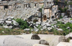 Ancient ruins of an amphitheater. Ancient ruins of an amphitheater in Asia Minor Royalty Free Stock Image