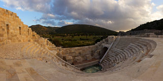 The ancient ruins of an amphitheater in Patara, Lycia Royalty Free Stock Photography