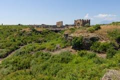 Ancient ruins of Aspendos. Royalty Free Stock Photo