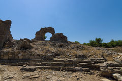 Ancient ruins of Aspendos. Stock Images
