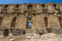 Ancient ruins of Aspendos. Stock Photos