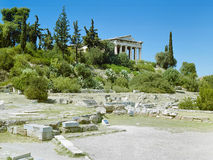 Ancient ruins in Athens Stock Images