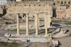 Ancient ruins in Athens Stock Photography