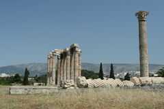 The Ancient Ruins of Athens Stock Photos