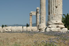 The Ancient Ruins of Athens Stock Images