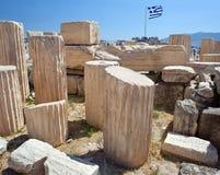 Ancient ruins in Athens, Greece Stock Photos