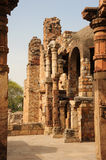The ancient ruins ay Qutab Minar, India. Stock Photography