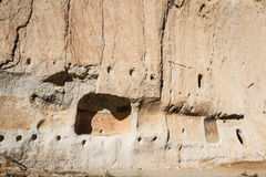 Ancient ruins in Bandelier National Monument. New Mexico, remnants of an old civilization Stock Image