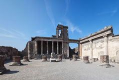Ancient ruins of basilica, Pompeii - Italy Royalty Free Stock Image