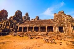 Ancient ruins of Bayon temple Royalty Free Stock Photo