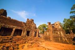 Ancient ruins of Bayon temple Stock Image