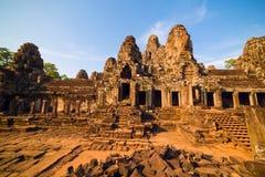 Ancient ruins of Bayon temple Royalty Free Stock Photos