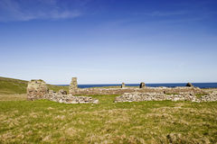 Ancient ruins at Broch of Mousa Royalty Free Stock Image