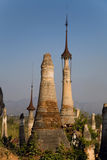 Ancient Ruins of Buddhist Stupas in  Indein. Stock Images